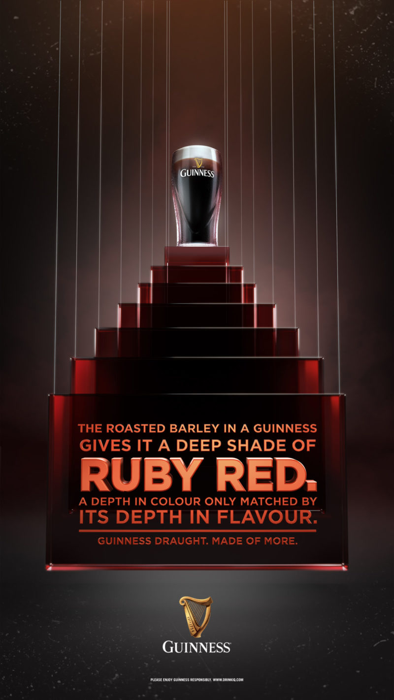 Guinness Ruby - A commercial key visual graphic design by Machineast Singapore