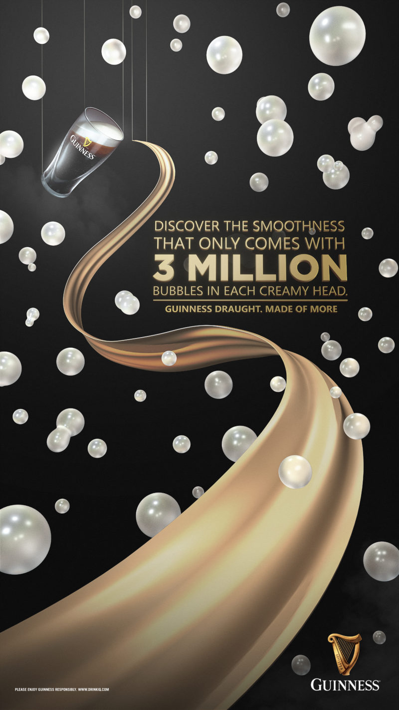 Guinness Silk - A commercial key visual graphic design by Machineast Singapore
