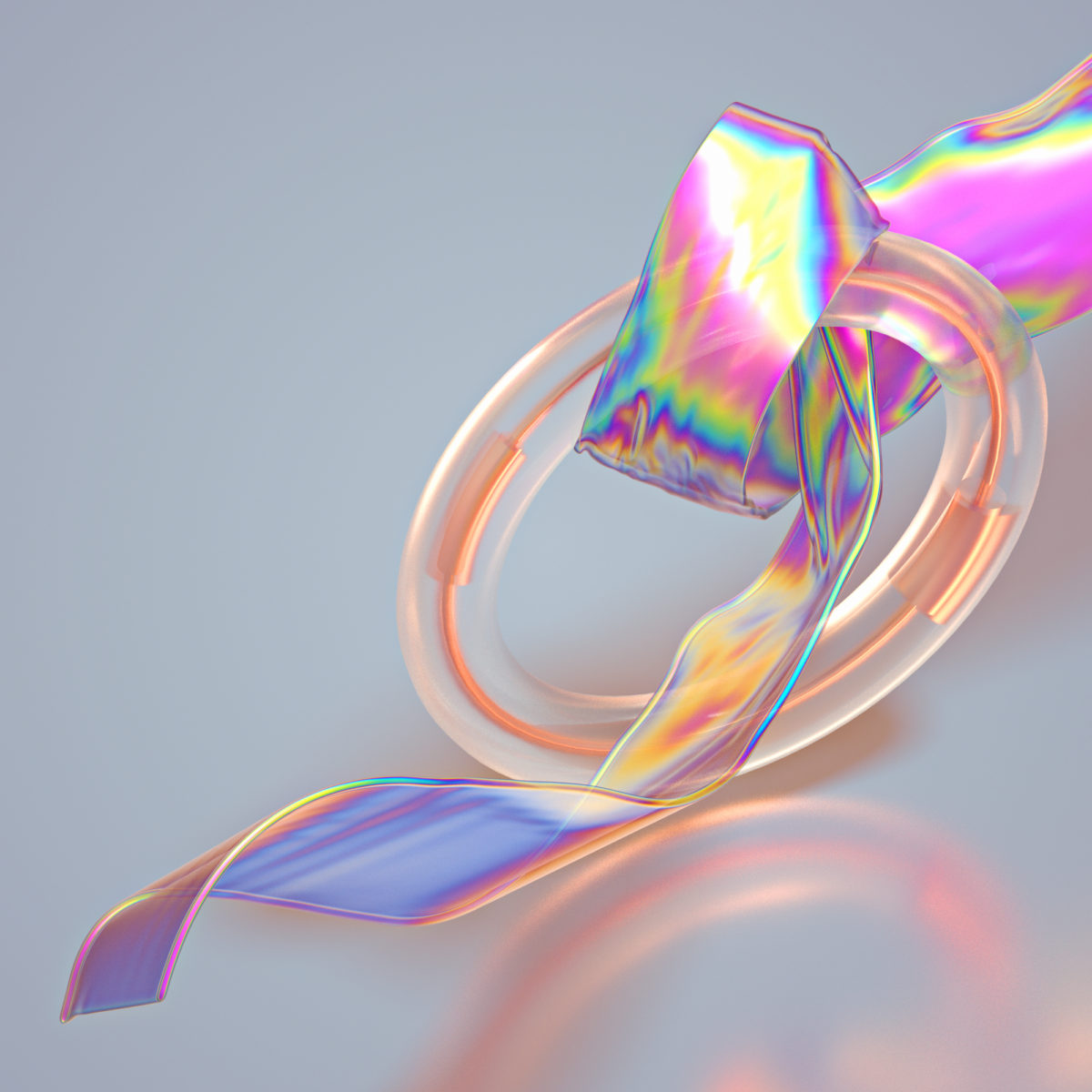 Translucent Iridescent - A digital art and motion graphic series by Machineast digital artist duo in Singapore.