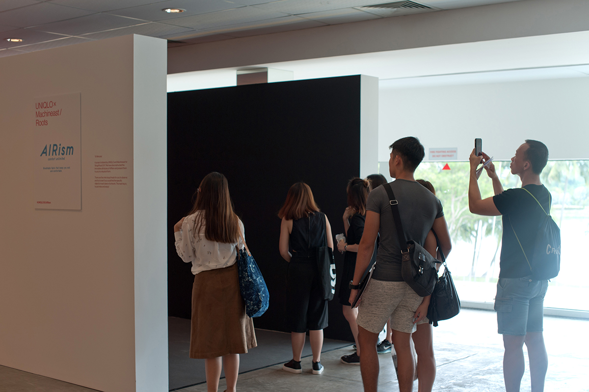 UNIQLO x Machineast collaboration at Singaplural art exhibition in Singapore