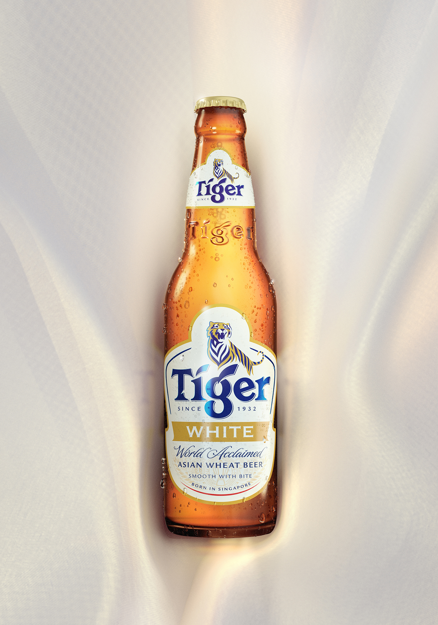 Tiger White - A commercial key visual graphic design by Machineast Singapore