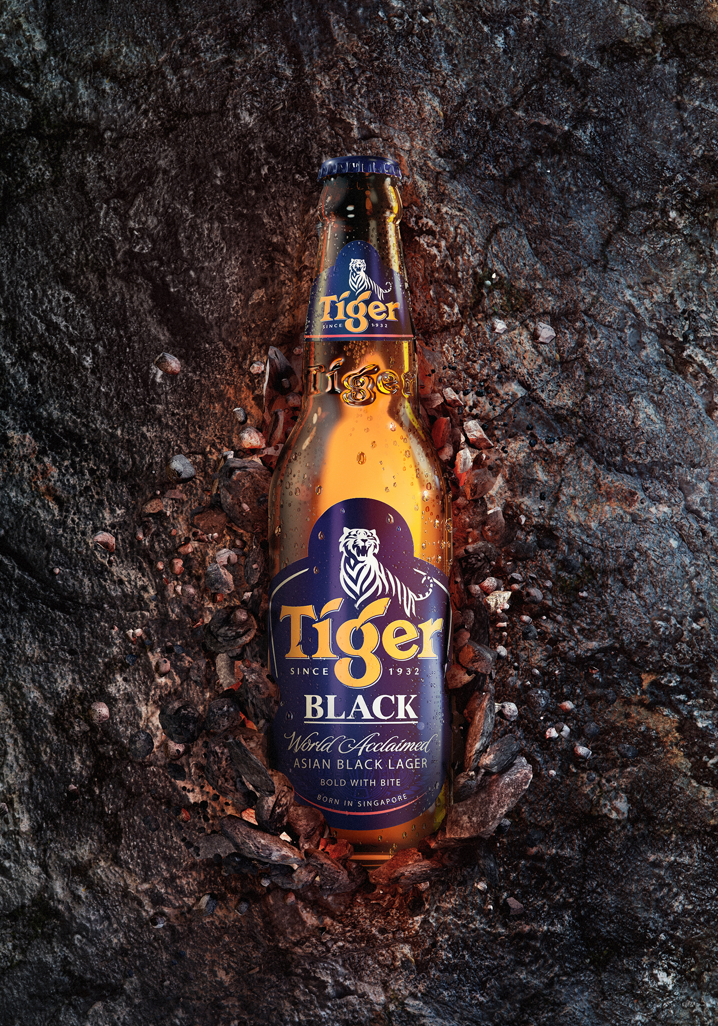 Tiger Black - A commercial key visual graphic design by Machineast Singapore